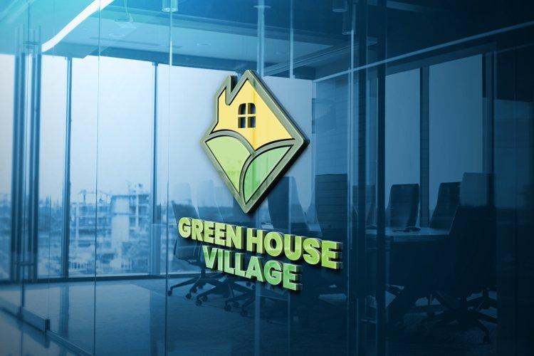 Green House Village Logo Template