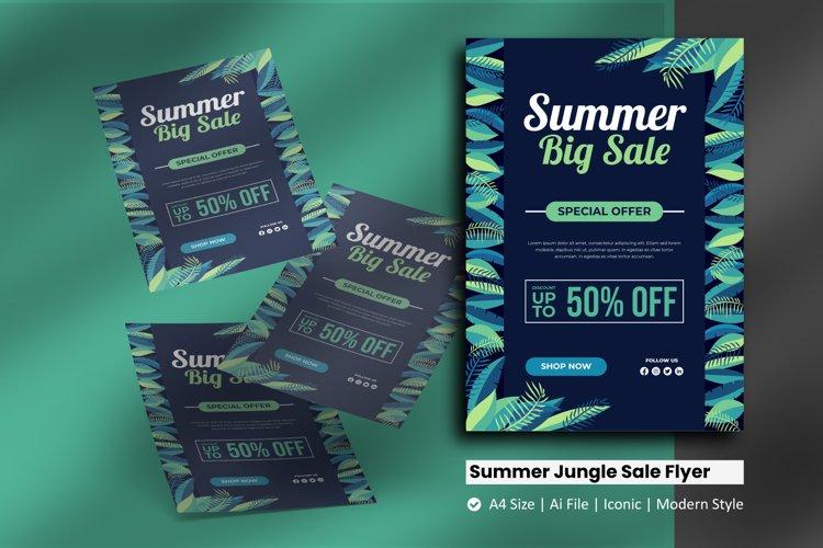 Summer Jungle Sale Flyer Brochure Template example image 1