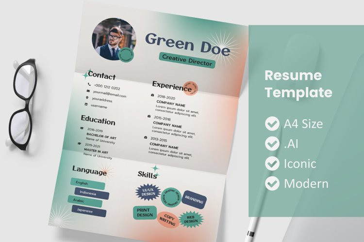 Vol.31 Style Old Resume Template example image 1