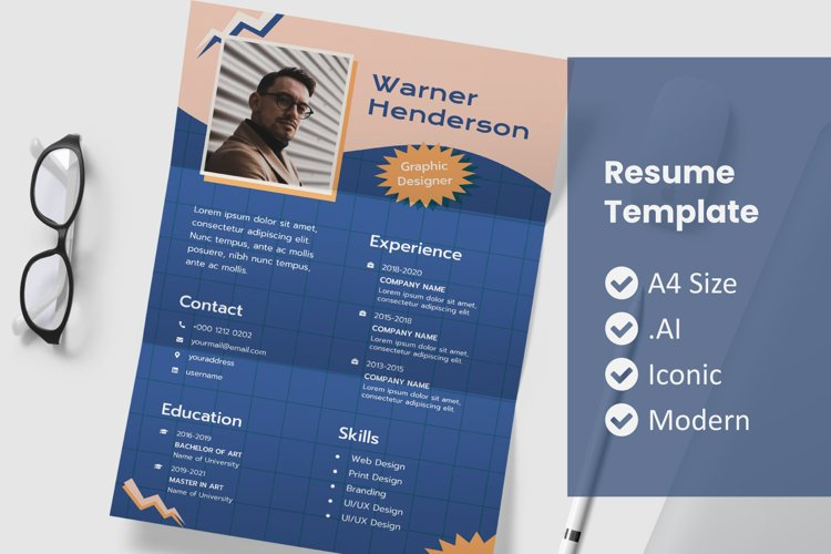 90's Resume Template Design example image 1