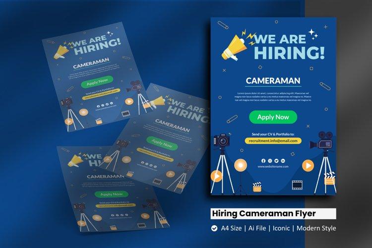 Recruitment Cameraman Flyer Template