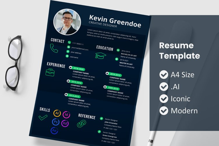 Resume Template Vol 24 example image 1