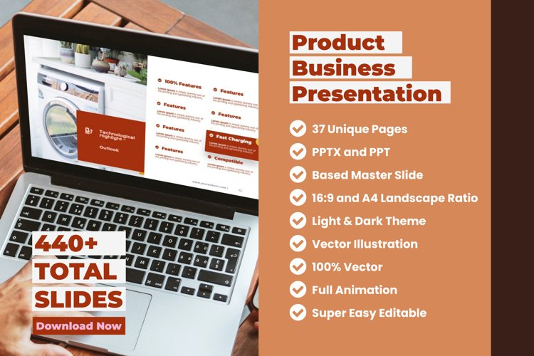 Electronic Product Business Presentation PowerPoint Template