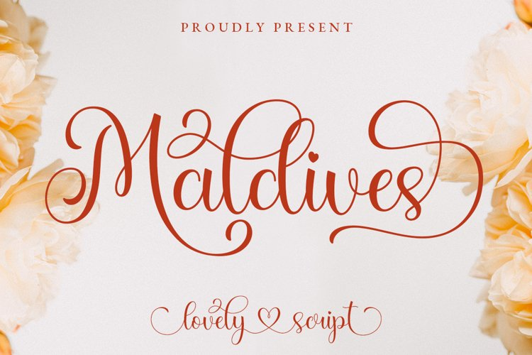 Maldives Lovely Script example image 1