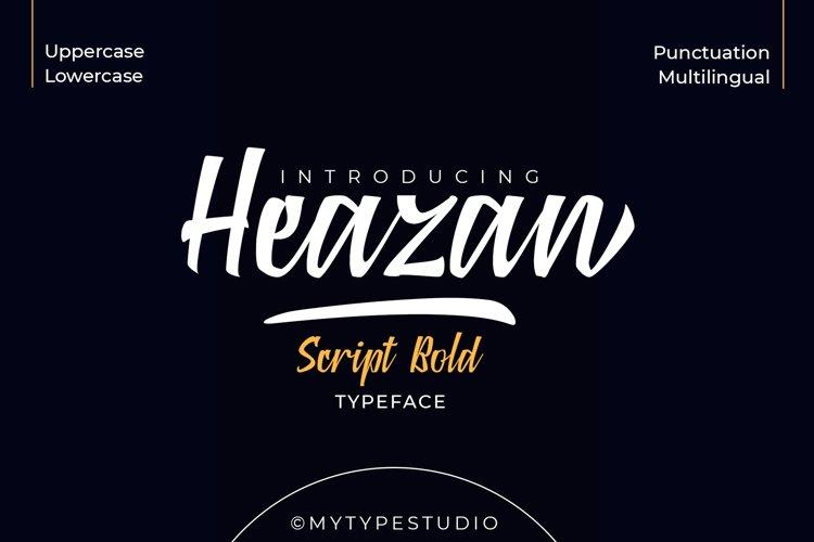 Heazan - Script Typeface example image 1