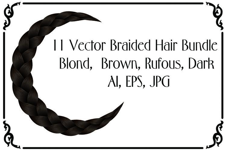 11 Vector Braided Hair Bundle - AI, EPS, JPG