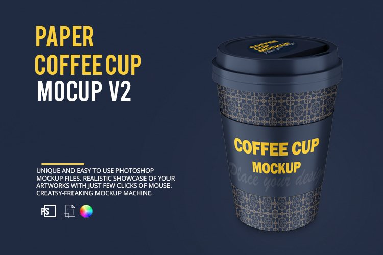 Paper Coffee Cup Mockup Set V2