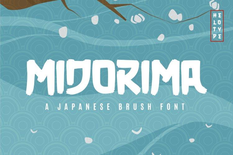 Midorima Japanese Font Brush example image 1