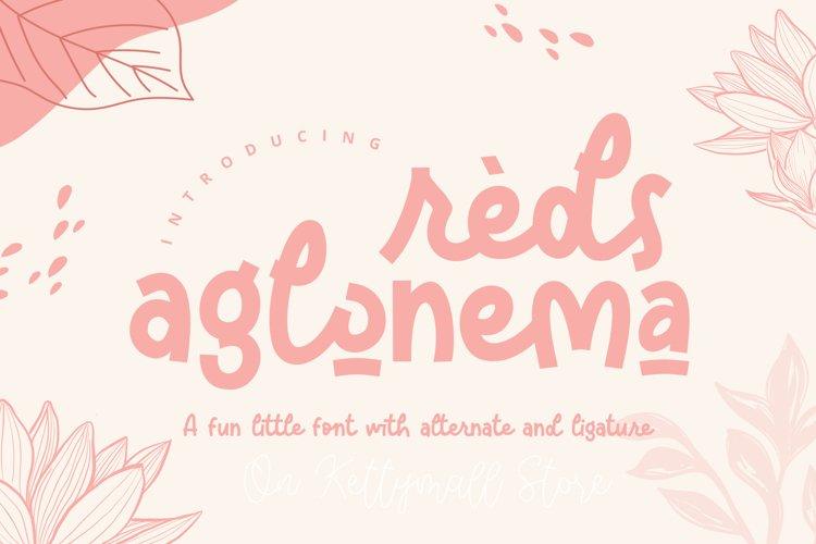 Reds Aglonema example image 1
