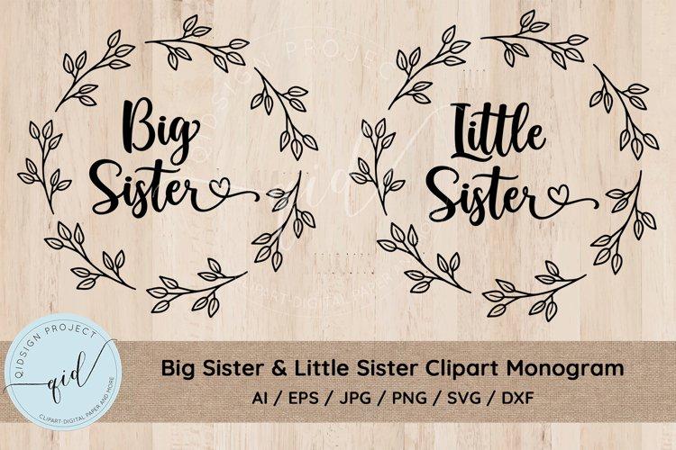 Big Sister   LIttle Sister Clipart SVG