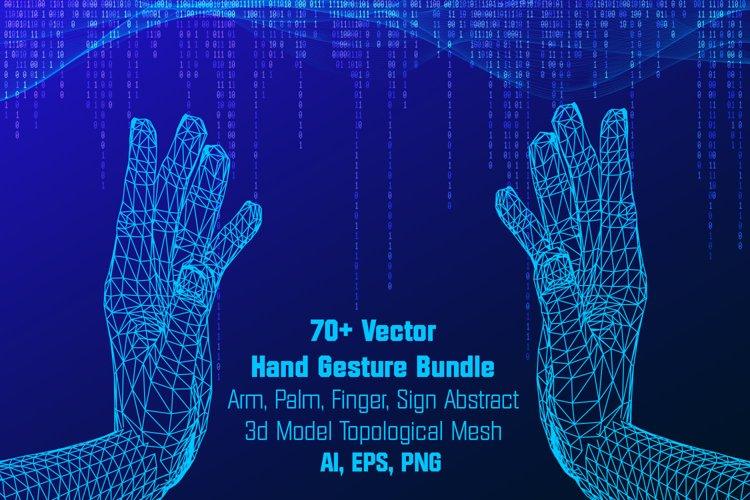70 Vector Hand Gesture Bundle