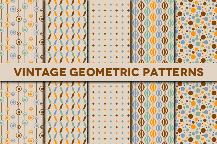Vintage Geometric Patterns for Adobe Photoshop