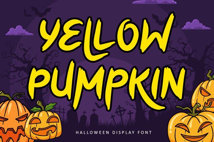 Yellow Pumpkin - Halloween Display Font example image 1