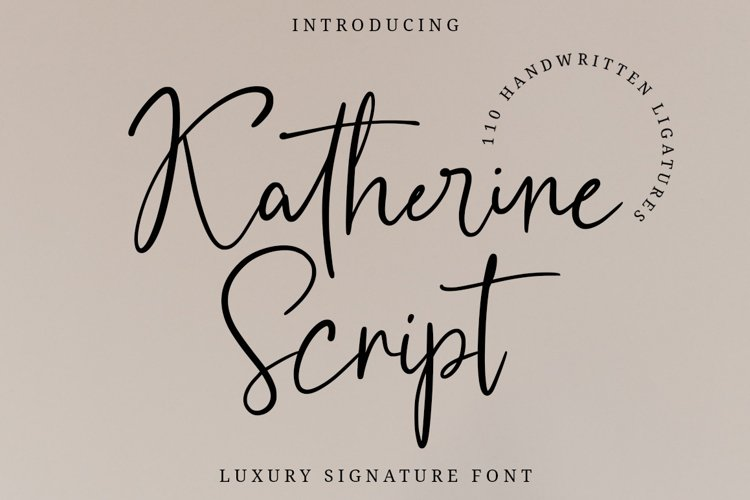 Katherine Script example image 1