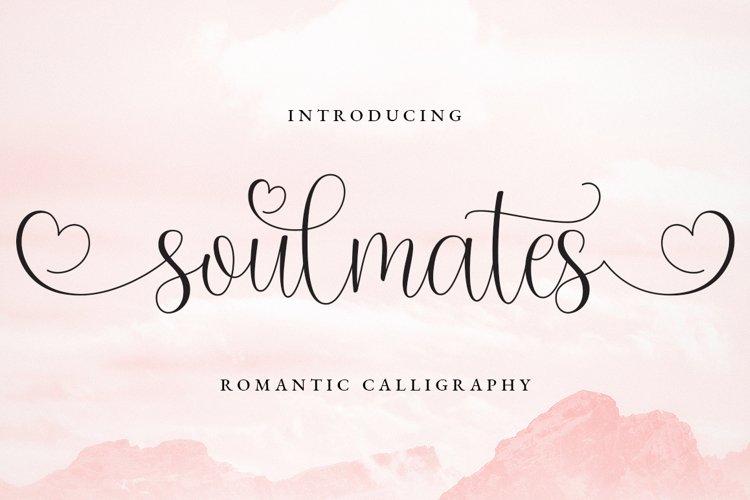 Soulmates Romantic Calligraphy example image 1