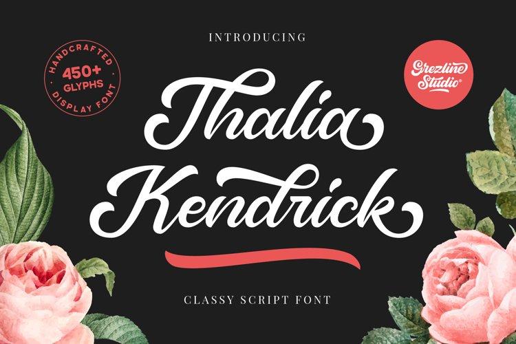 Thalia Kendrick - Script Font example image 1