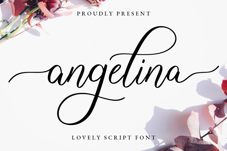 Angelina Lovely Script example image 1