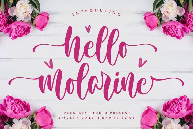 Hello Molarine example image 1