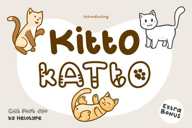 Kitto Katto Cat Font Duo with Bonus example image 1