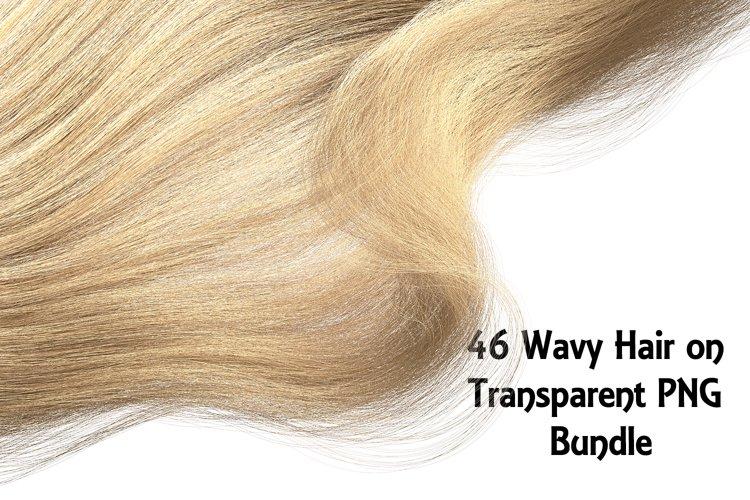 46 Wavy Hair on Transparent PNG Bundle