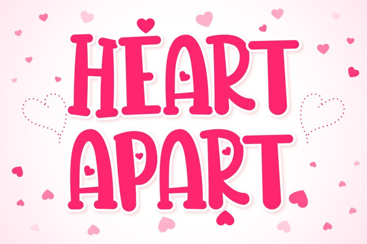 Heart Apart Lovely Font example image 1