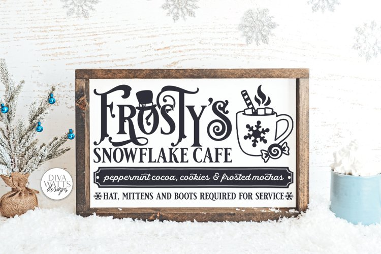 Frosty's Snowflake Cafe SVG | Christmas / Winter Design example image 1