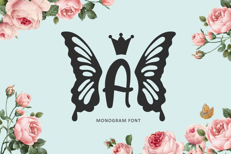 Princess Butterfly - Monogram example image 1