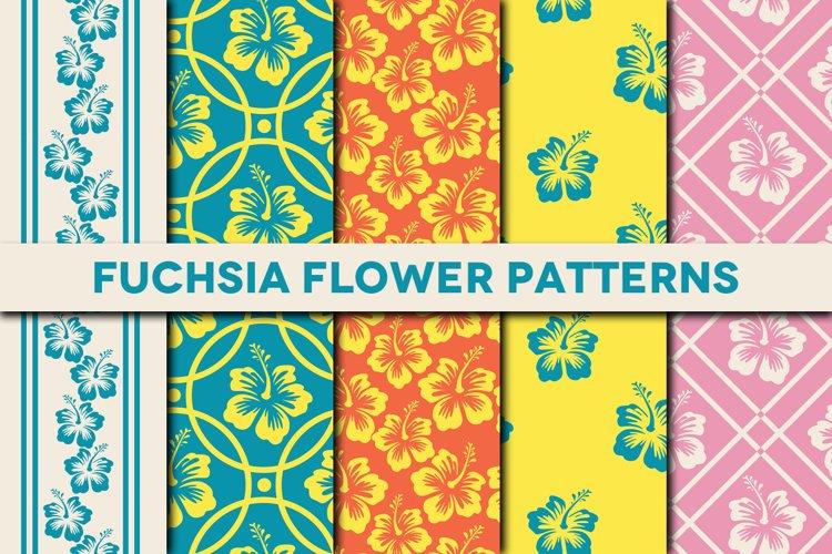 Fuchsia Flower Patterns