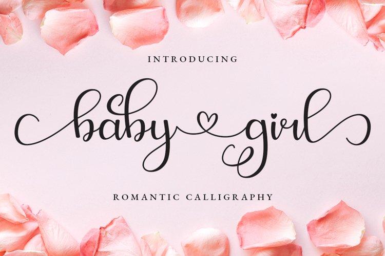 Baby Girl Romantic Calligraphy example image 1