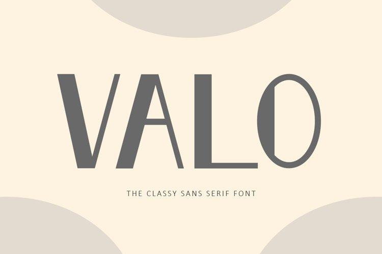 Valo - Classy Sans Serif Font example image 1