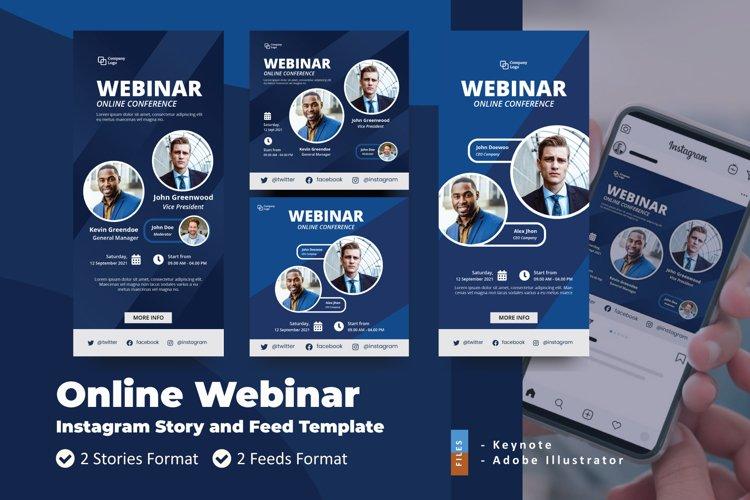 Online Webinar Instagram Story Feed Keynote Template