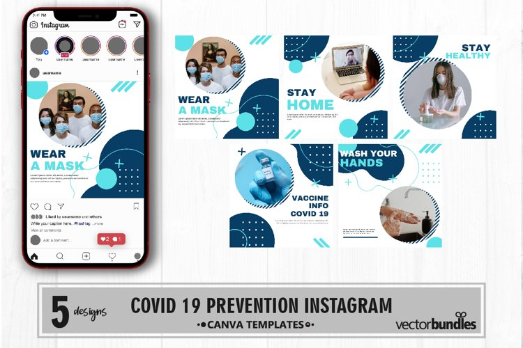 Virus prevention instagram post canva template volume 2 example image 1