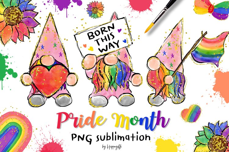 Gnome Pride Month PNG Sublimation