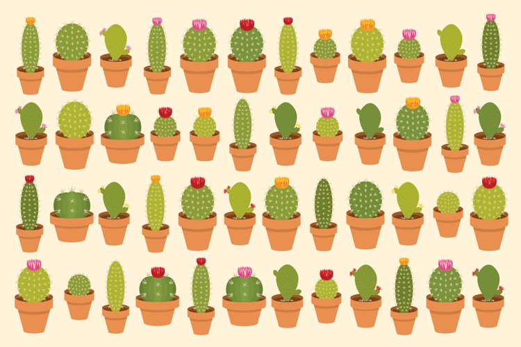 Potted Cactus Houseplant Clipart
