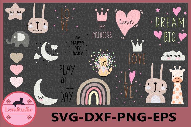 Princess Svg, Baby Svg, Childrens prints svg
