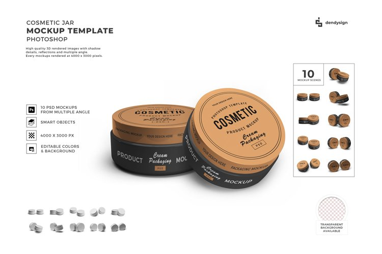 Cosmetic Cream Jar Mockup Template Bundle 2