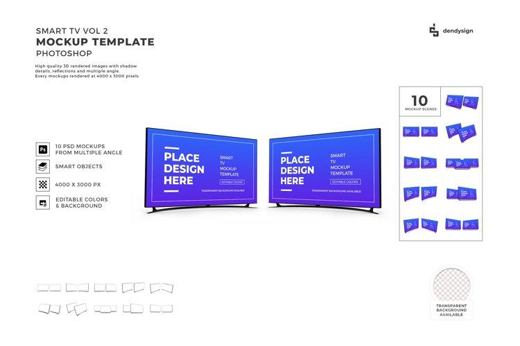 Smart TV Screen Mockup Template Bundle 2