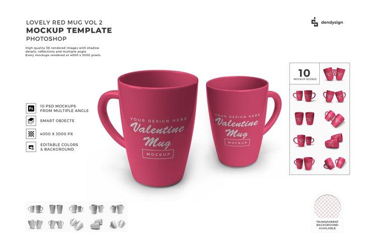 Red Drinking Mug Mockup Template Bundle 2