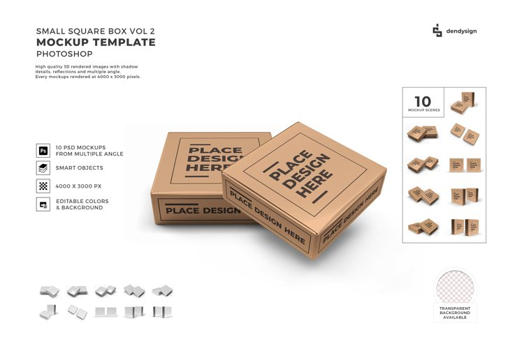 Small Square Box Packaging Mockup Template Bundle 2