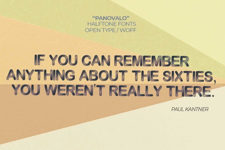 Panovalo Halftone Font | Open Type-Woff
