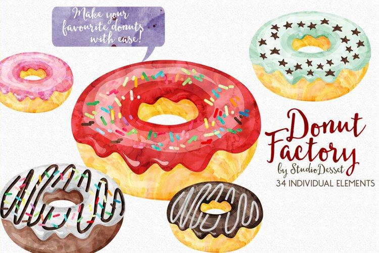 Donut Watercolor Illustrations