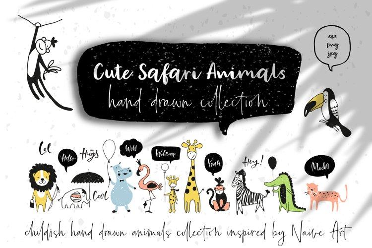 Safari Animals Vector Set