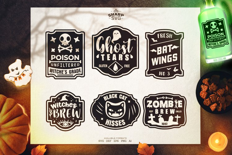 Halloween Label SVG Bundle   Halloween SVG Files example image 1