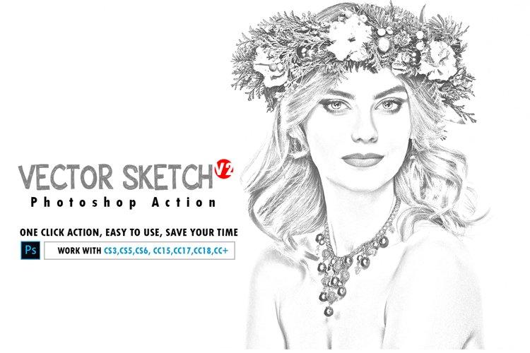 Vector Sketch V2 Photoshop Action