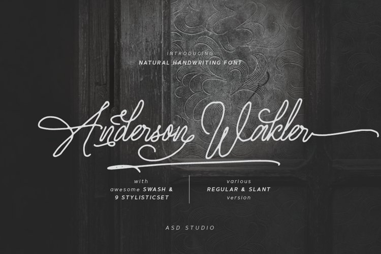 Anderson Wakler - Natural Handwritting example image 1