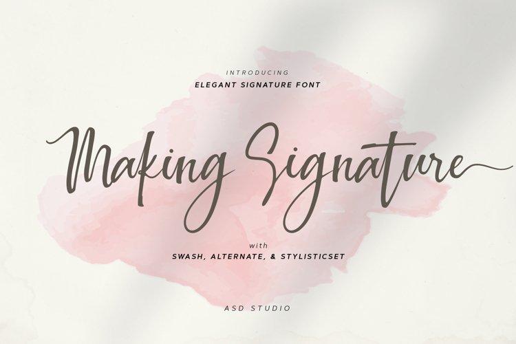 Making Signature example image 1