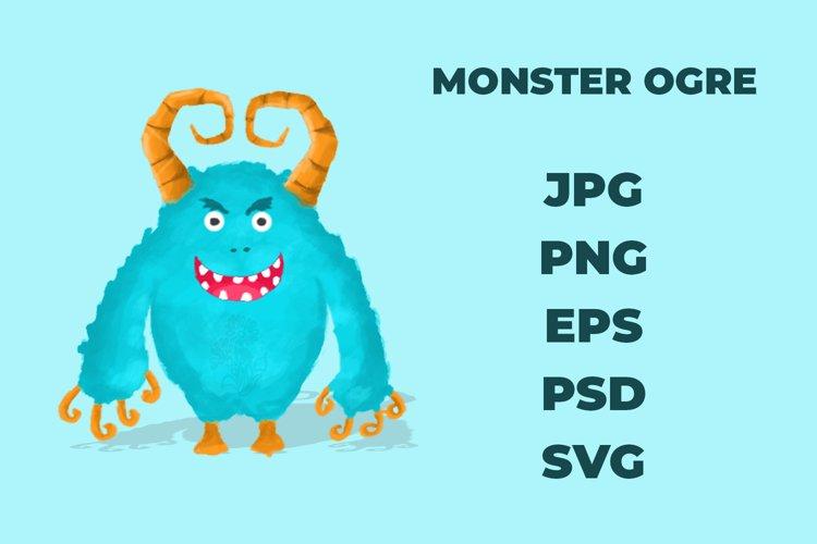 Monster Ogre SVG , PSD , JPG , PNG , EPS