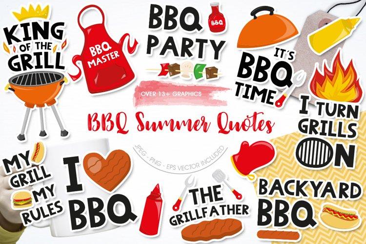 Summer BBQ quotes graphics | illustrations | vectors | clipa