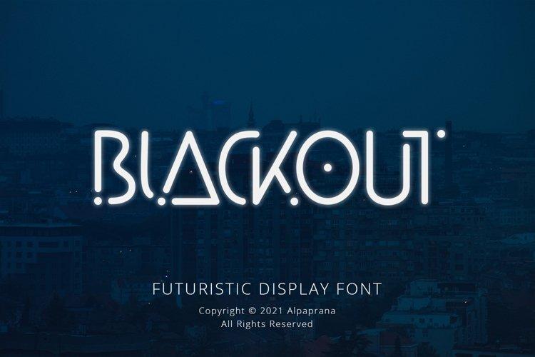 Blackout - Futuristic Display Font example image 1
