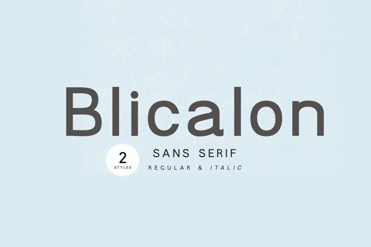 Blicalon - modern sans serif example image 1